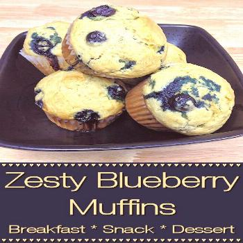 Zesty Blueberry Muffins - Foodie Home Chef What makes these blueberry muffins zesty & pop with flav