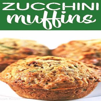Zucchini Muffins Recipe |  -  The BEST zucchini bread muffins EVER! Moist, sweet, packed with shred