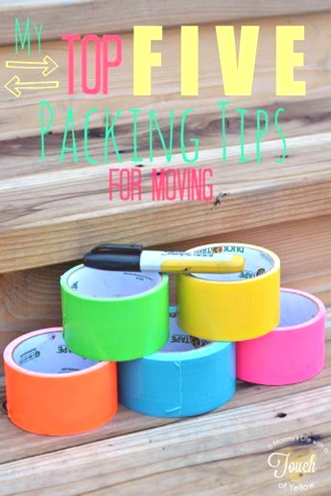 A mommys life...with a touch of YELLOW My Top FIVE packing tips for moving