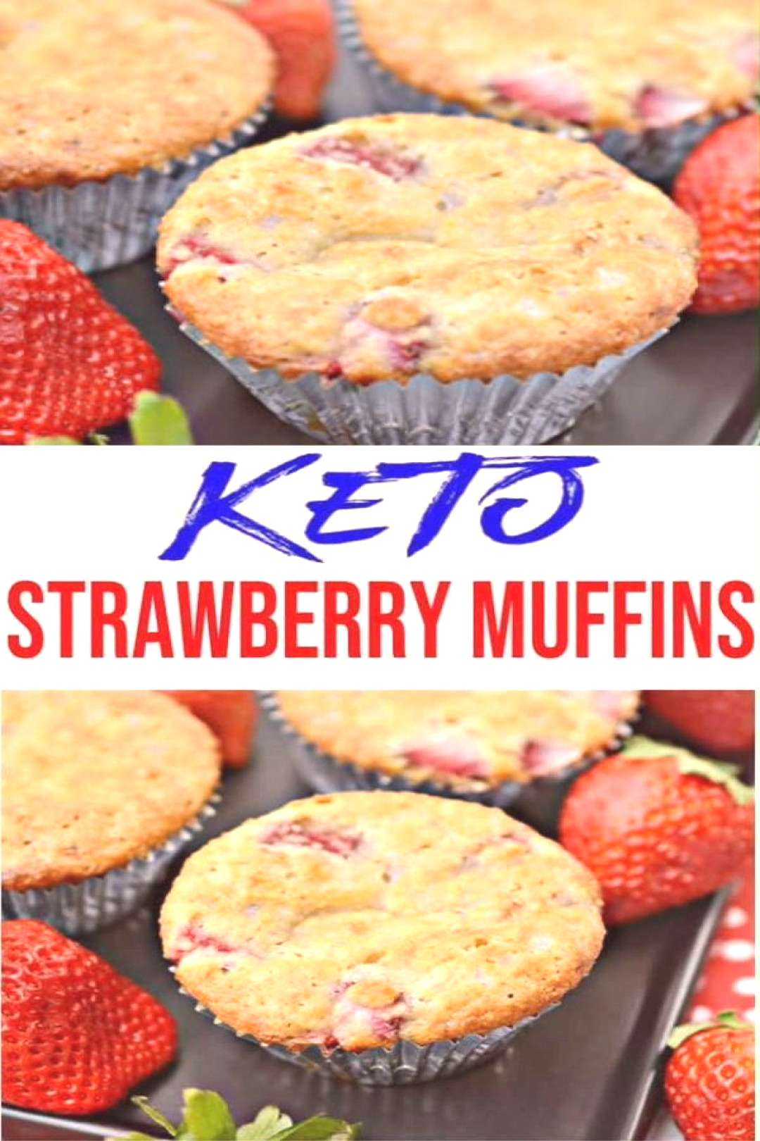 BEST Keto Muffins! Low Carb Strawberry Muffin Idea  Quick & Easy Ketogenic Diet ... -  BEST Keto Mu