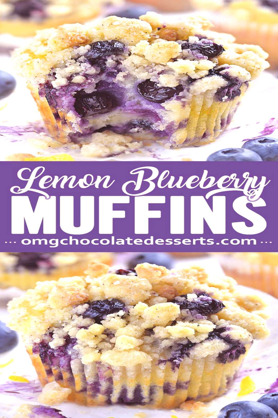 Blueberry Lemon Muffins are a delicious breakfast choice on a spring or summer day. The bright tang