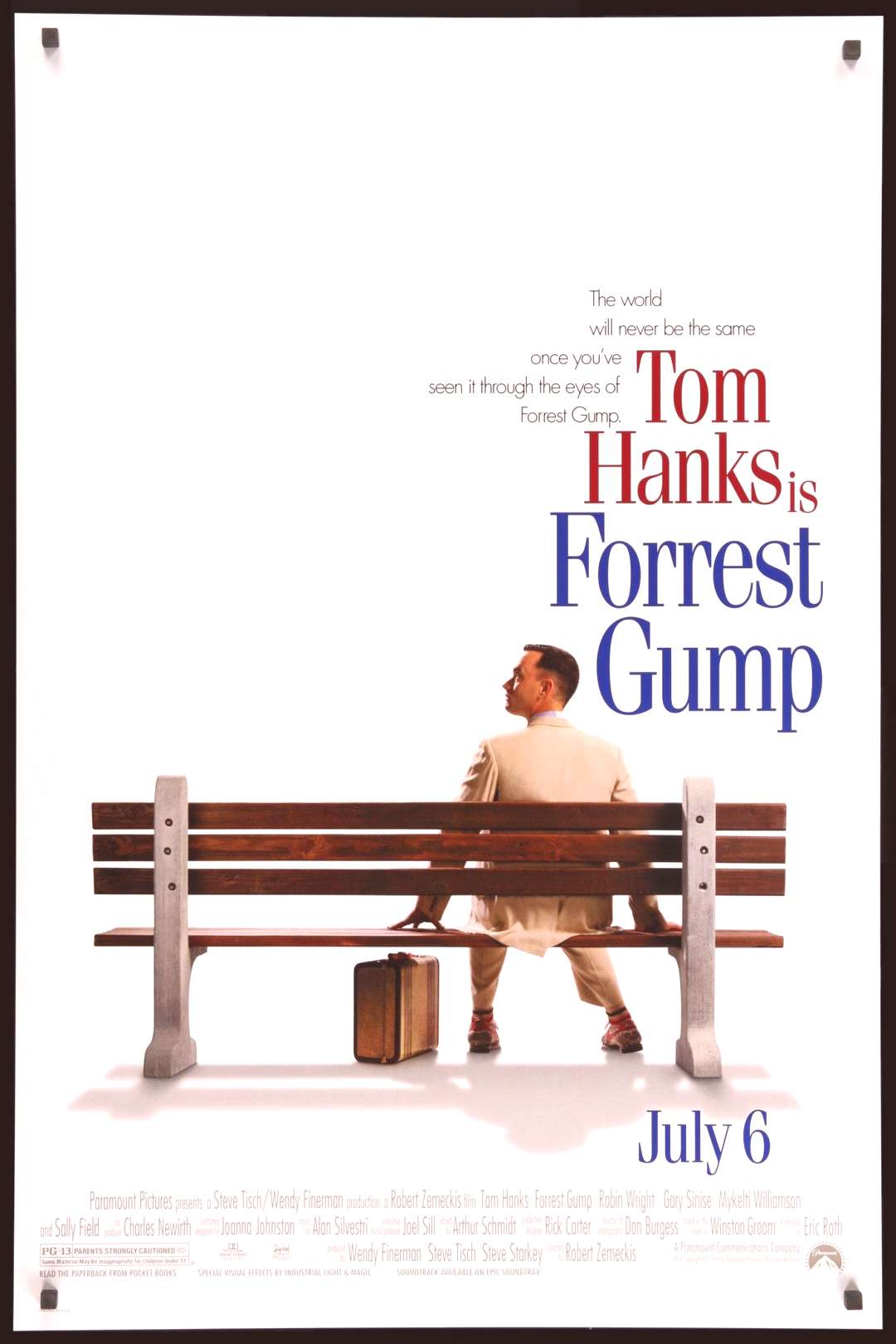 Forrest Gump (1994) Original One-Sheet Movie Poster - Original Film Art - Vintage Movie Posters
