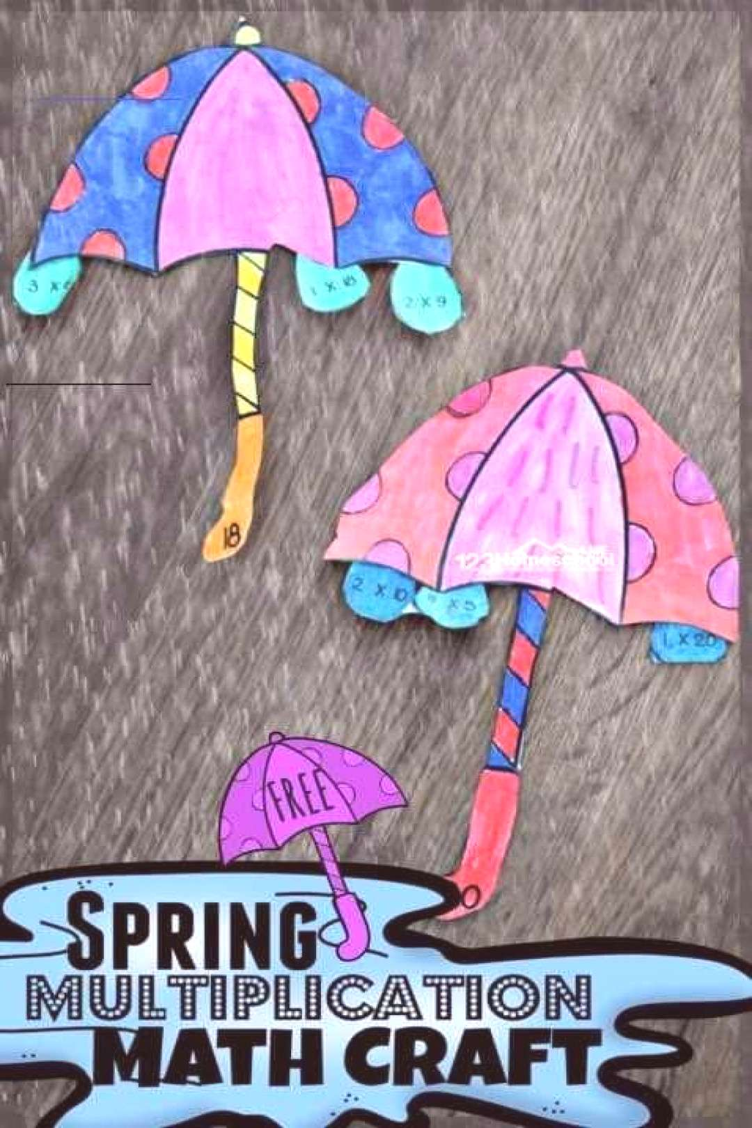 FREE Spring Multiplication Math Craft - kids will have fun practicing multiplication and gaining fl