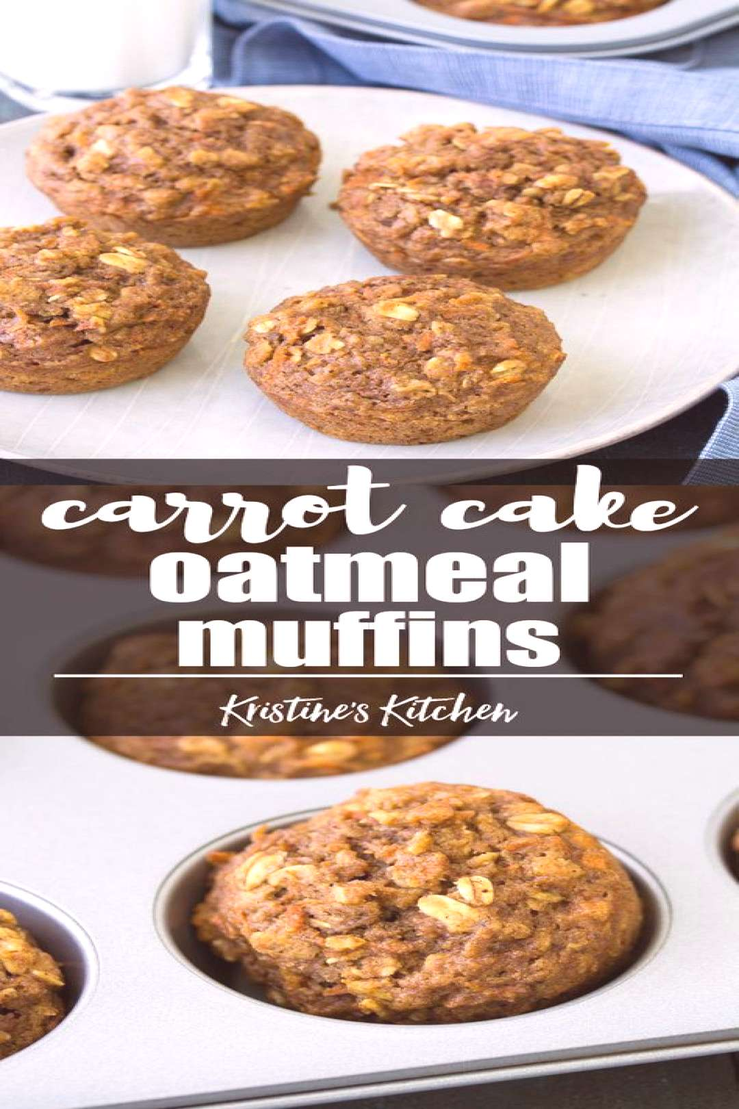 Healthy Carrot Cake Oat Muffins (One Bowl),Baking Muffins Muffins Muffins Muffins muffins Muffins c