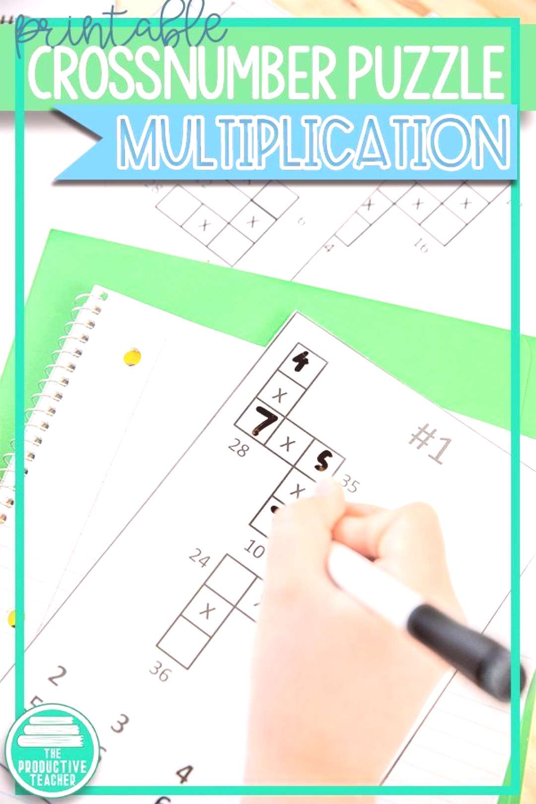 Math Game Multiplication (Crossnumber) Give your students fun multiplication fact practice with th