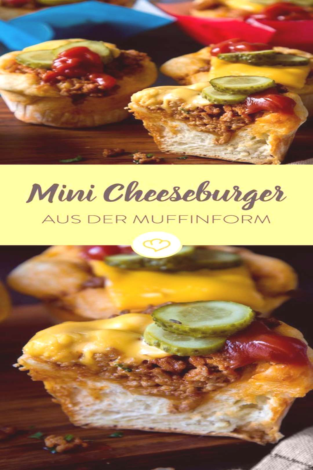 Mini-Cheeseburger Der US-Klassiker aus Muffins Mini-Cheeseburger Der US-Klassiker aus Muffins,