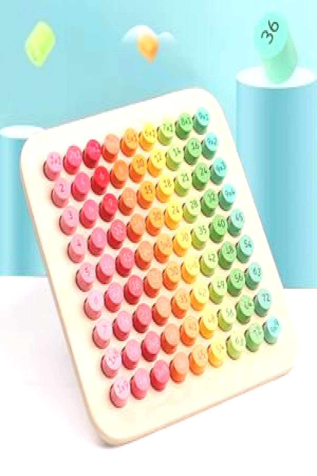 MONTESSORI MULTIPLICATION TABLE BOARD  This table game is part of the which plays a vital role in e