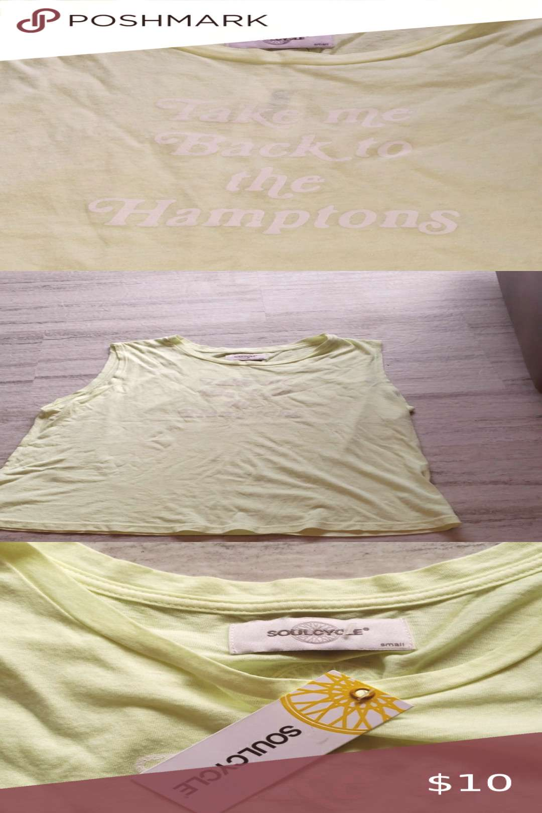 NWT Soulcycle Muscle Tee NWT Take Me Back to the Hamptons muscle tee by Soulcycle. Feel free to ask