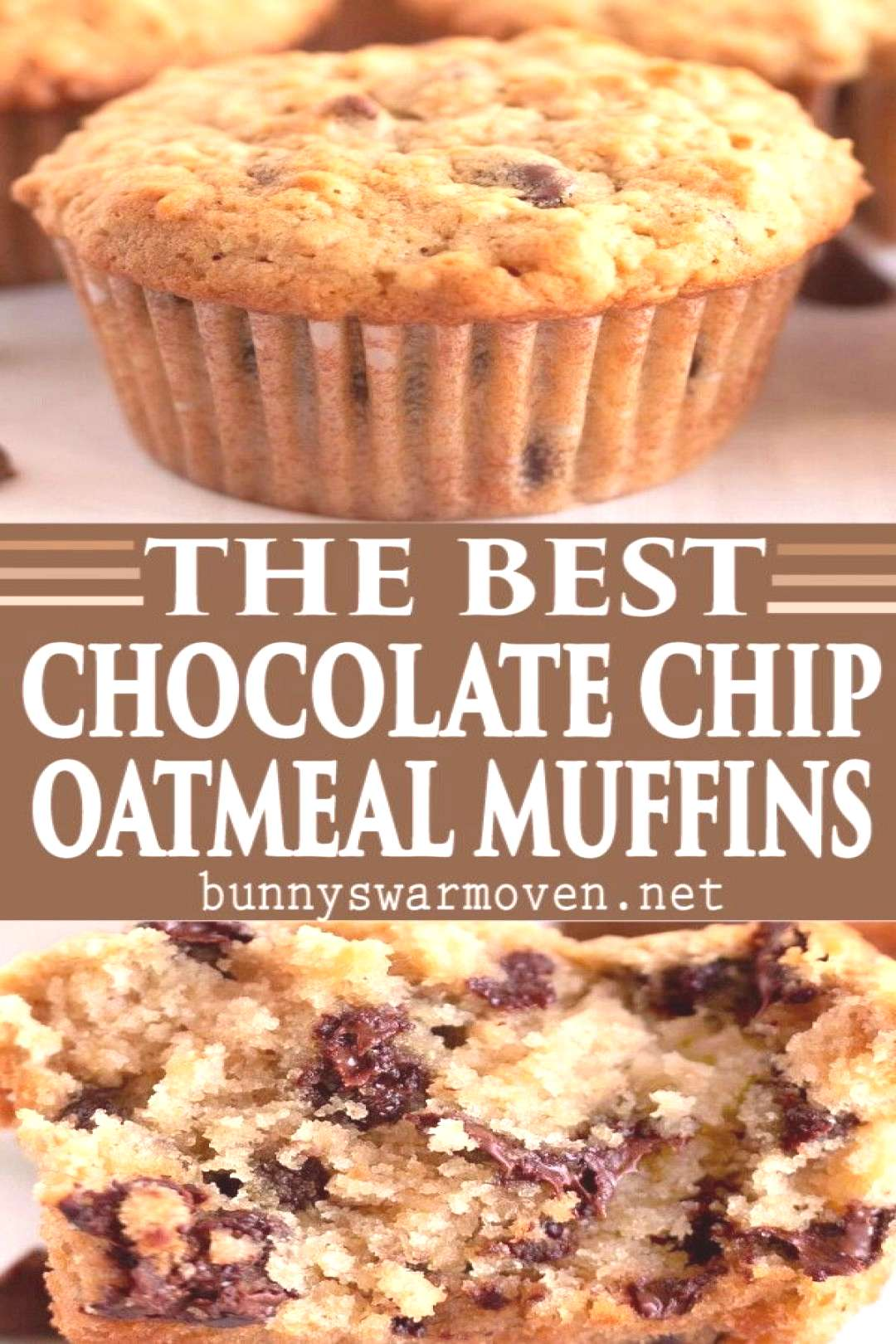 OATMEAL CHOCOLATE CHIP MUFFINS - Oatmeal Chocolate Chip Muffins are perfect for breakfast, snacks