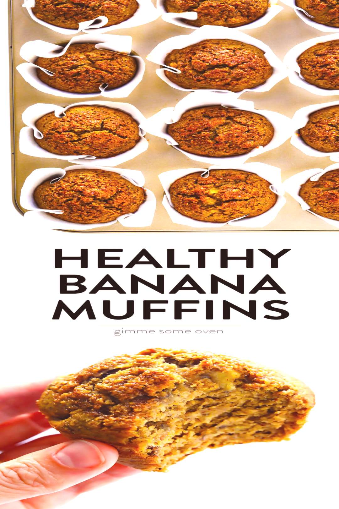 These healthy banana muffins are easy to make, naturally gluten-free, lightly sweetened with maple
