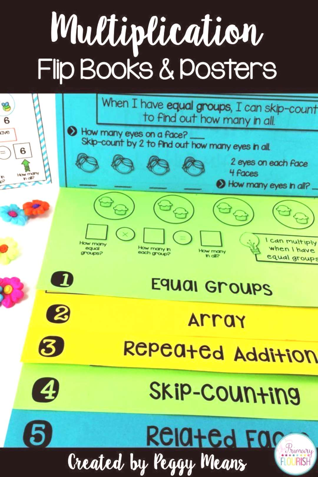 These multiplication interactive strategy flip books are perfect for your 3rd, 4..., These multipl