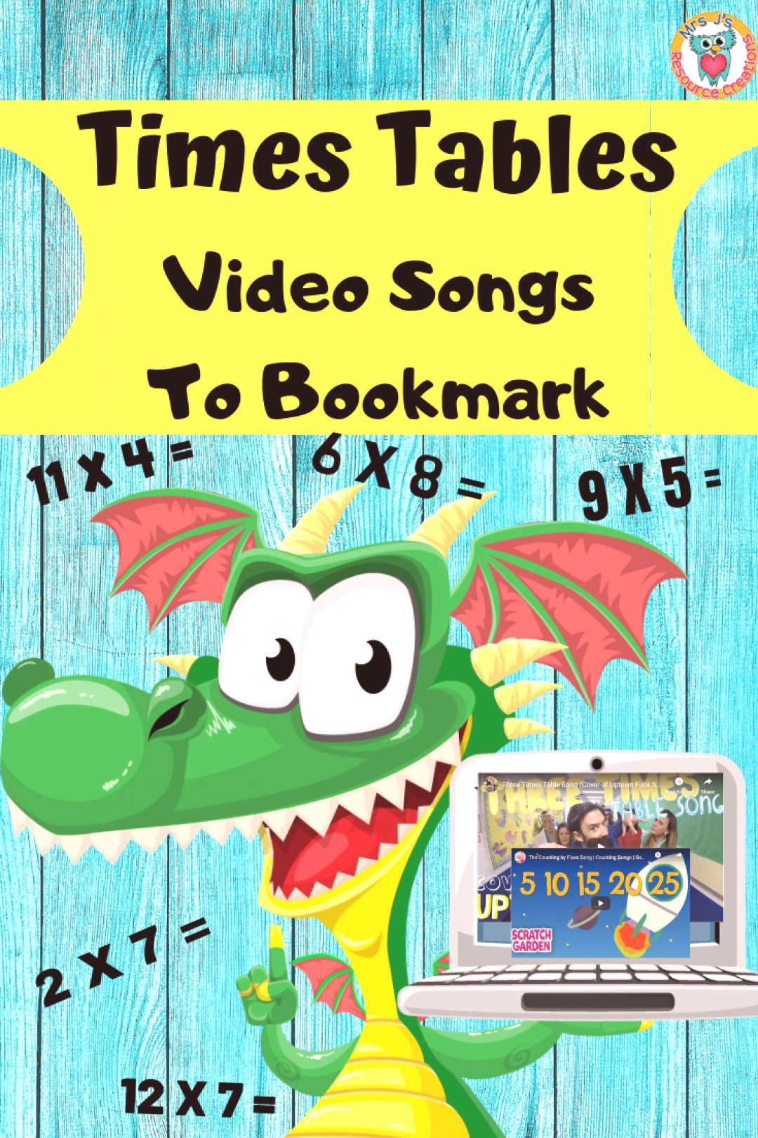 Times Tables Video Songs for Kids Times Tables Video Songs to Bookmark to help your kids learn mult