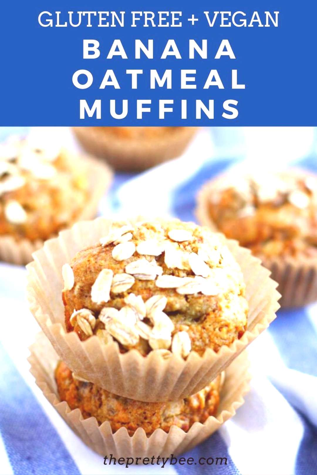 Vegan Banana Oat Muffin Recipe This is a simple banana muffin recipe that's just right for breakfas